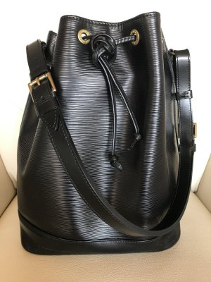 Original Louis Vuitton Noé Grand Epi Leder Kouril Schwarz