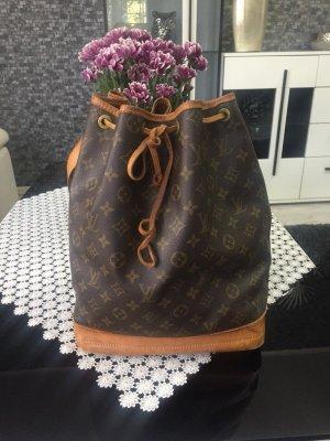 Louis Vuitton Banane brun foncé-cognac tissu mixte