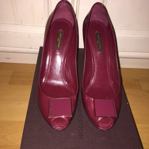 Original LOUIS VUITTON Peeptoe Pumps Grosse 37,5