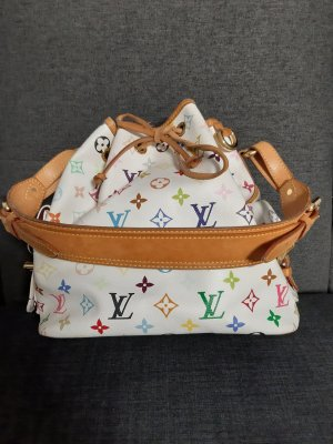 Original Louis Vuitton Petit Noe weiss multicolore