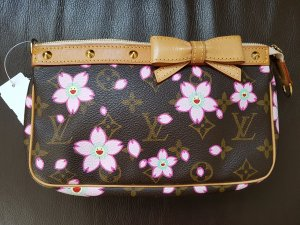 Louis Vuitton Pochette bronze-rose clair cuir