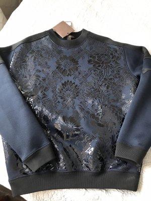 Louis Vuitton Pull ras du cou bleu foncé-noir