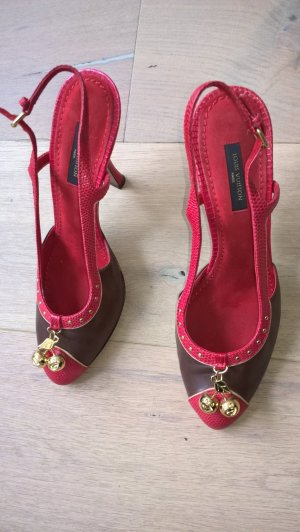 Original Louis Vuitton Pumps rot braun High Heel 37,5 Cherry