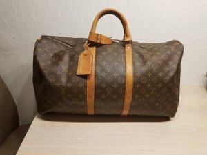 Louis Vuitton Sac de voyage brun foncé-cognac