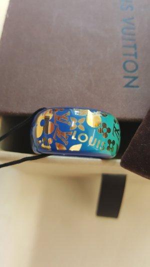 Original Louis Vuitton Ring Bagues Monogram blau türkis grün L  & Zertifikat