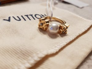Original Louis Vuitton Ring mit Perle Gr. M & Rechnung & Box