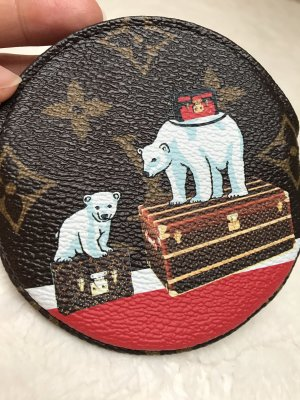 Original Louis Vuitton Round Coin Purse Portemonnaie Rond Eisbär