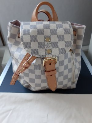 Original Louis Vuitton Rucksack Sperone BB Damier Azur