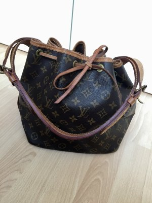 Louis Vuitton Borsellino marrone-marrone chiaro Pelle