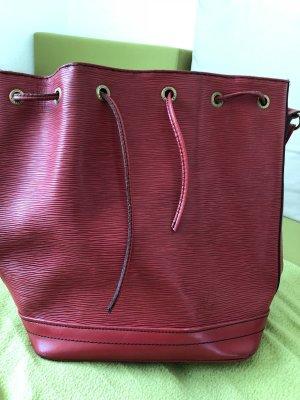Louis Vuitton Sac seau rouge cuir