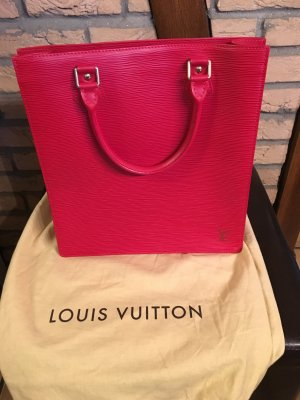 Original Louis Vuitton Sac Plat Epi-Leder rot