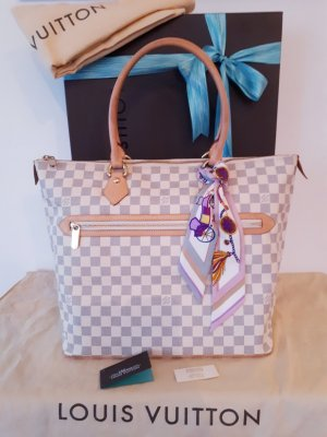 Original LOUIS VUITTON Saleya GM (großer) Shopper in Damier Azur