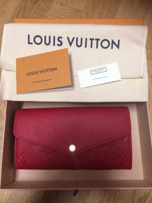 Louis Vuitton Cartera rojo ladrillo