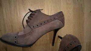 Louis Vuitton Hoge hakken zwart-bruin Leer