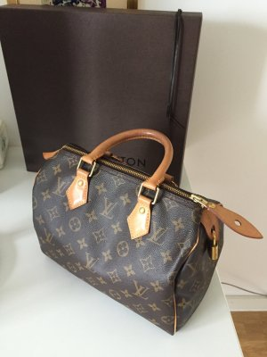 Original Louis Vuitton Speddy Monogram Tasche Bag 25cm mit Karton