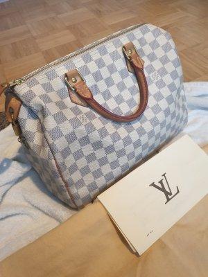 Original Louis Vuitton Speedy 30 Azur Damier mit Rechnung und Staubbeutel