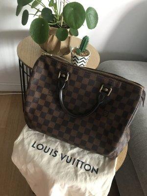Original Louis Vuitton, Speedy 30 Damier Ebene mit Schloss und 2 Schlüsseln