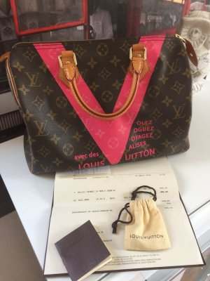Original Louis Vuitton Speedy 30 limitierte Sonderedition Sommer 2015 Rechnung