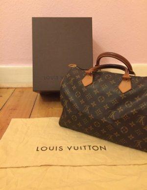 Louis Vuitton Sac à main brun matériel synthétique