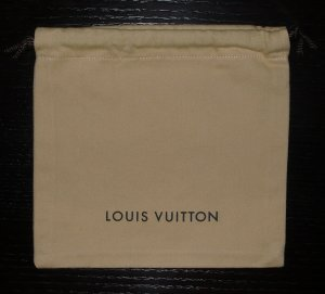 Louis Vuitton Bolso de tela marrón arena Lino