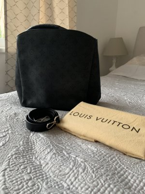 Original Louis Vuitton Tasche Babylone Mahina schwarz