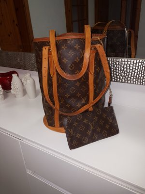 Original Louis Vuitton Tasche Bucket PM mit Pochette