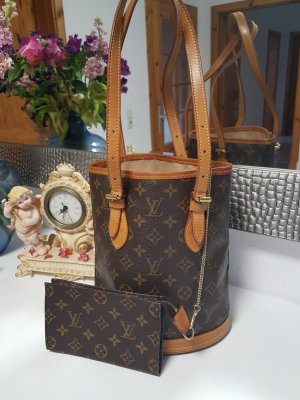 Original  Louis Vuitton  Tasche Bucket PM  mit Pochette