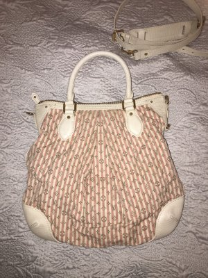 Louis Vuitton Bolsa Hobo blanco-rosa