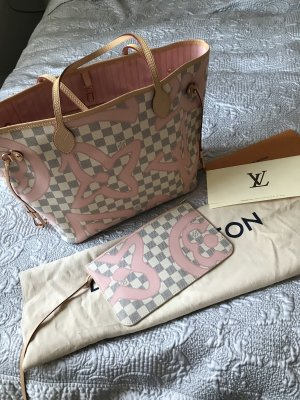Louis Vuitton Shopper wit-rosé