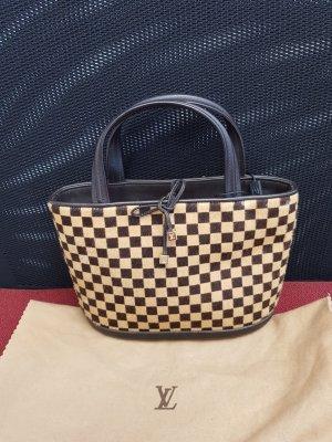 Louis Vuitton Sac à main brun foncé-beige