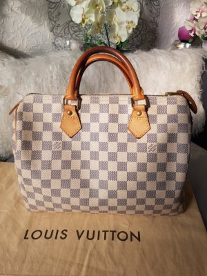 Original Louis Vuitton Tasche Speedy 30 Damier Azur
