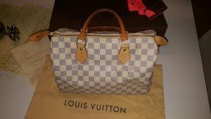 Original Louis Vuitton Tasche Speedy 30 Damier Azur & Rechnung