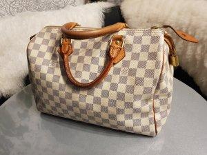 Original Louis Vuitton Tasche Speedy 30 Damier Azur & Rechnungskopie