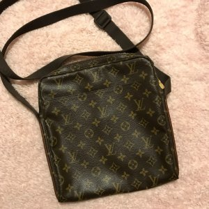 Louis Vuitton Sac bandoulière brun-bronze tissu mixte