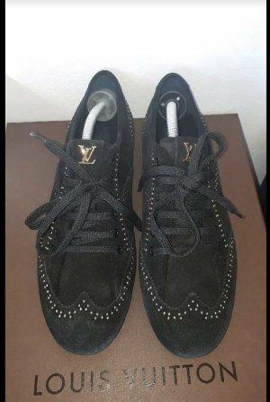 Original LOUIS VUITTON Velours Sneakers, schwarz, 40