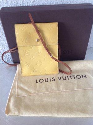 Original Louis Vuitton Vernis Pochette Umhängetasche gelb LV Monogram Tasche