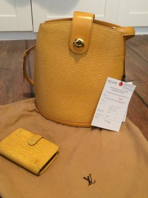 Original LOUIS VUITTON Yellow Epi Leather Cluny Shoulder Bag + Portemonnaie
