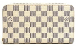 Original LOUIS VUITTON Zippy Organizer, die größte Form des Zippy Wallets, Damier Azur