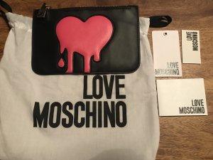Original Love Moschino Schminktasche / Mini Clutch schwarz pink Neu!