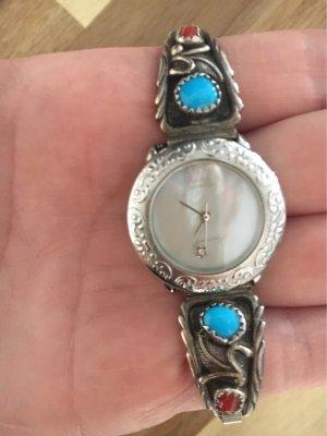 Original Lucoral Sterling Vintage Uhr Retro 80er Navajo