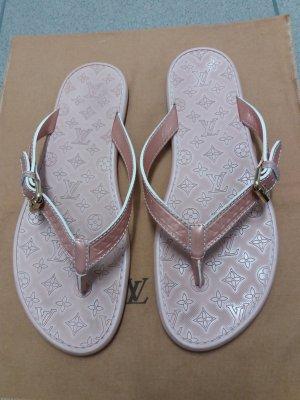 Original LV Flip Flop Sandalen 39,5 Puderrosa/Nude