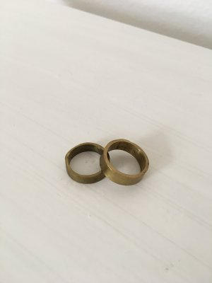 Original Made Brass Ringe in Gold Vintage Look Handmade