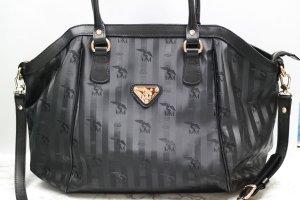 Original Maison Mollerus Tasche Handtasche Damentasche schwarz gold