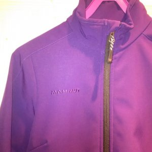 Original MAMMUT Softshelljacke in S 36 lila violett Windstopper Skijacke Schweiz