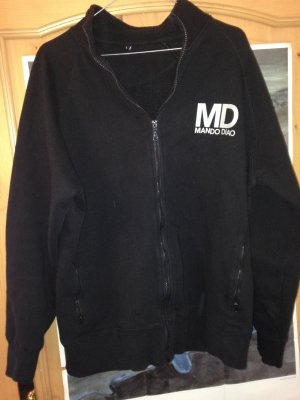 College Jacket black-silver-colored polyester