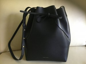 Mansur Gavriel Pouch Bag black-neon red leather