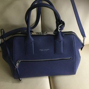 Marc Jacobs Carry Bag steel blue leather