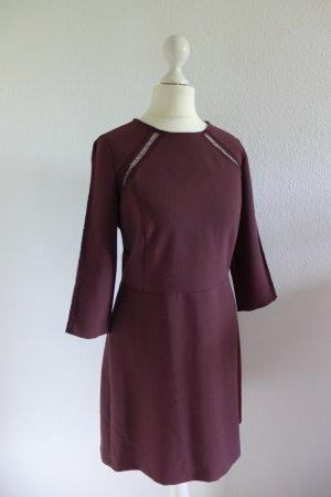 Original Marella Kleid Spitze kurz burgund dunkelrot Gr. 34/36