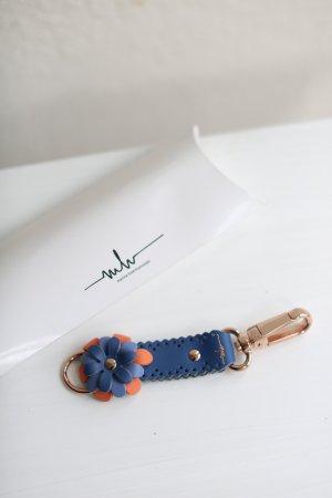 Marina Hoermanseder Key Case neon blue-light orange