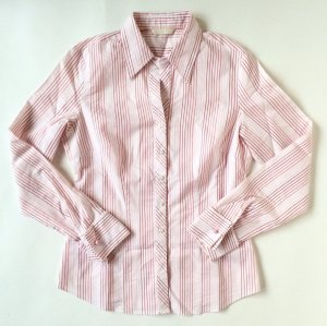 Original Marks & Spencer Bluse Shirt gestreift rosa Gr. 36 S Rosen